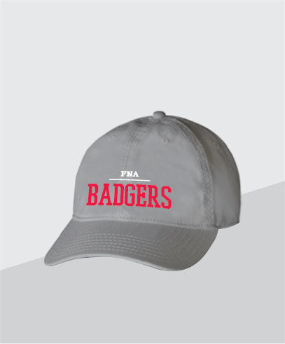 Badgers Grey Dad Cap