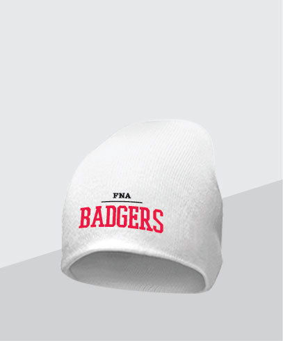 Badgers White Knit Cap