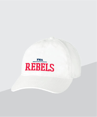 Rebels White Dad Cap