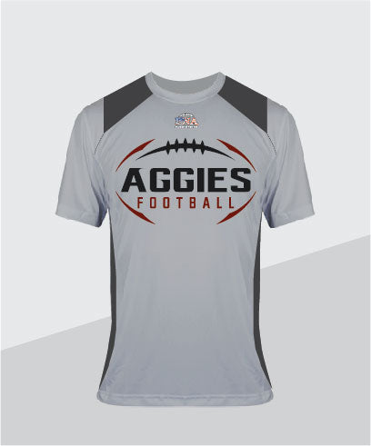 Aggies Color-Block Performance Tee
