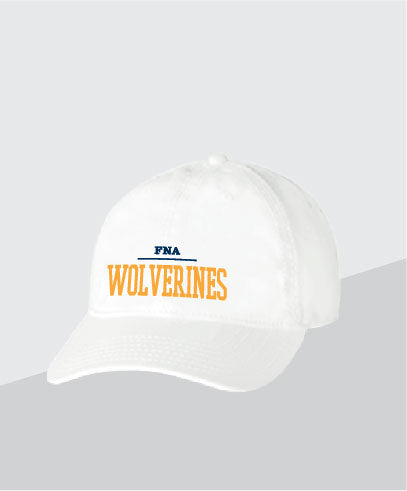 Wolverines White Dad Cap