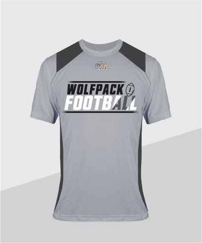 Wolfpack Ladies Color Block Glitter V-Neck (Junior Fit)