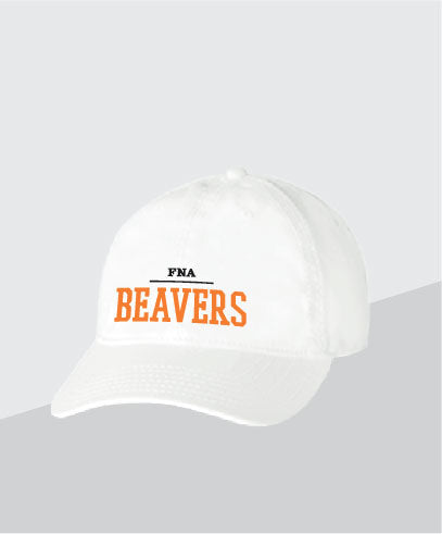 Beavers White Dad Cap