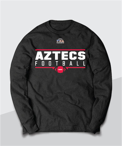 Aztecs Gridiron Long Sleeve Tee