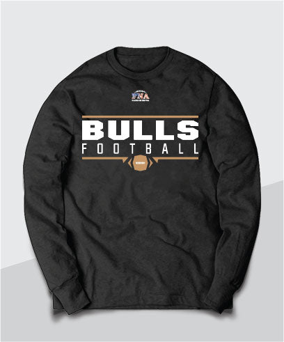 Bulls Gridiron Long Sleeve Tee