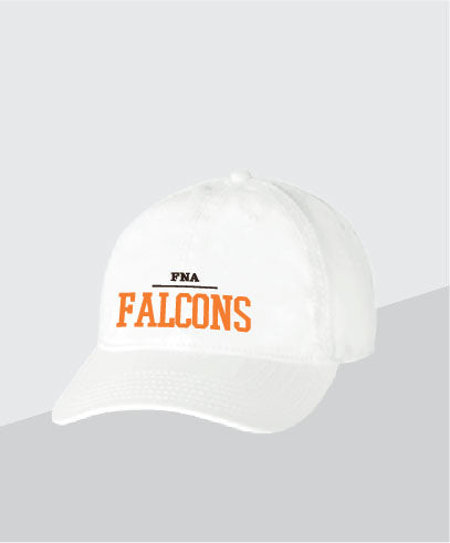 Falcons White Dad Cap