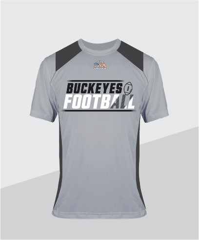 Buckeyes Color-Block Performance Tee