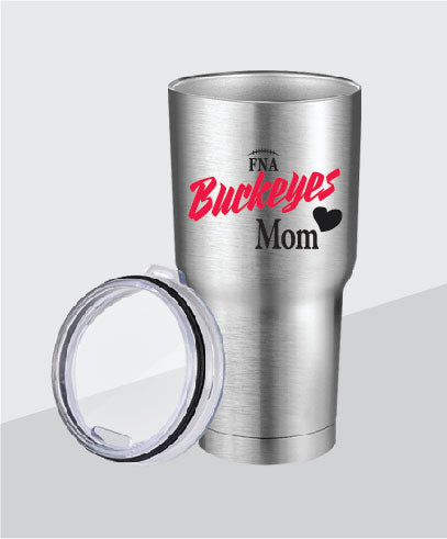 Buckeyes 30 oz Mom Stainless Steel Tumbler