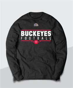 Buckeyes Gridiron Youth Long Sleeve Tee