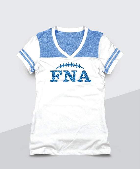 FNA- Ladies Color Block Glitter V-Neck (Junior Fit)