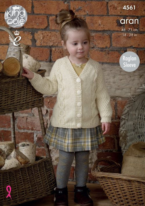 Fashion Aran Leaflet 4561 - Cardigan