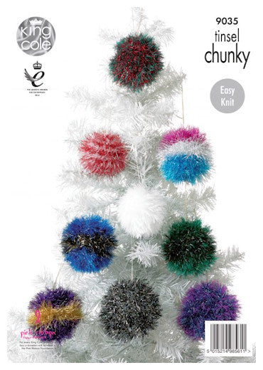 Tinsel Chunky Pattern Leaflet 9035 - Christmas Baubles