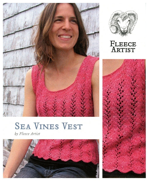 Sea Vines Vest by Fleece Artist