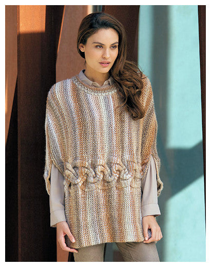 Katia Book No. 91 - Urban - Design 06 - Poncho in Azteca Milrayas
