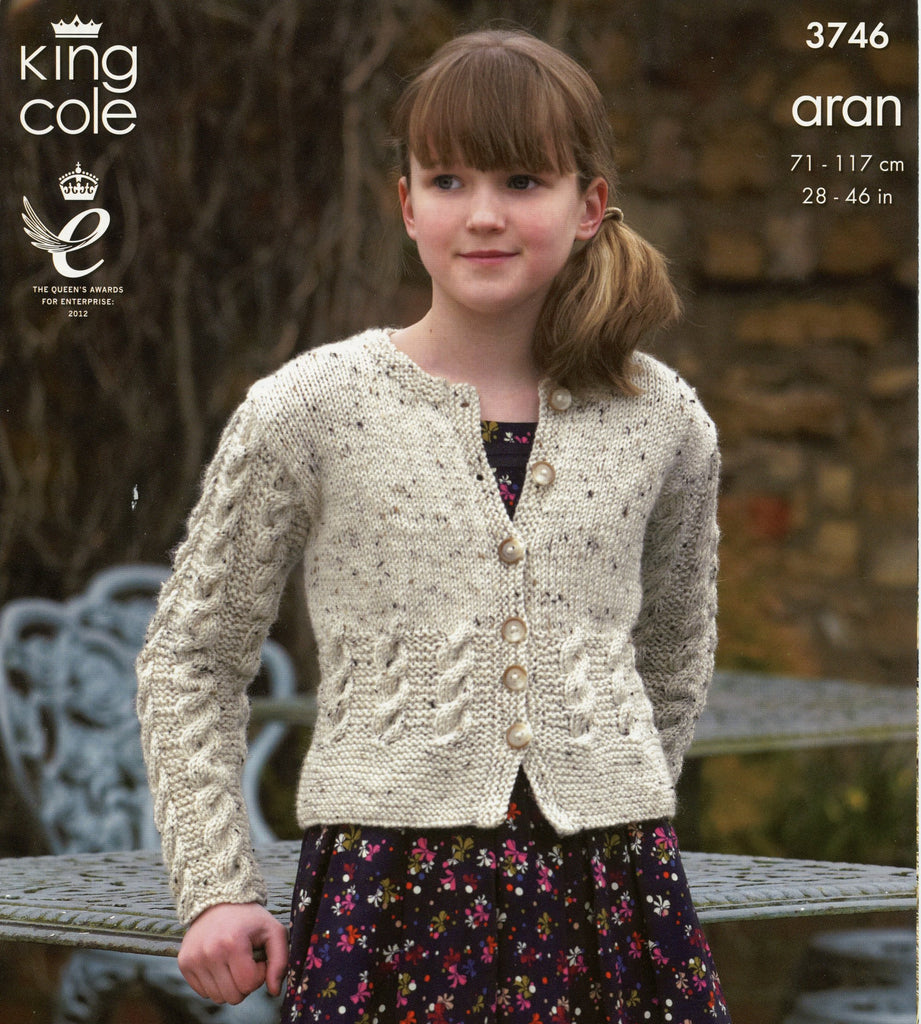 Fashion Aran Leaflet 3746 - Cardigan