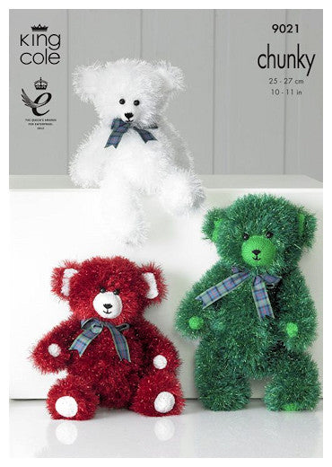 Tinsel Chunky Pattern Leaflet 9021 - Teddy Bears