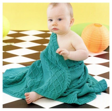 Sirdar Book 495 - Playful Little Tots - Design 4629 Cabled Blanket