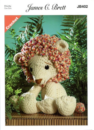 Flutterby Pattern Leaflet JB402 - Rory the Lion