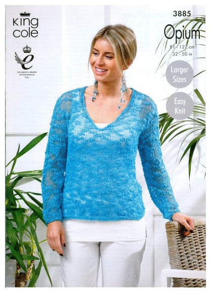 Opium Leaflet 3885 - Long-Sleeved Sweater