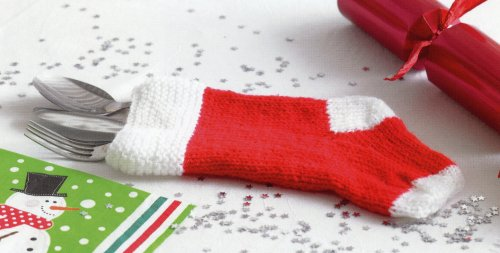 Christmas Knits 2 - Cutlery Stocking