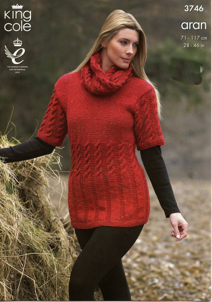 Fashion Aran Leaflet 3746 - Tunic and Cowl