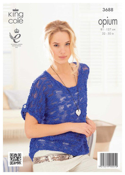 King Cole Opium Leaflet 3688 - Scoop Neck Top