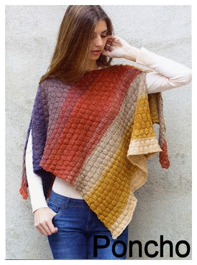 Paint Pattern Leaflet by Katia - Knit Poncho