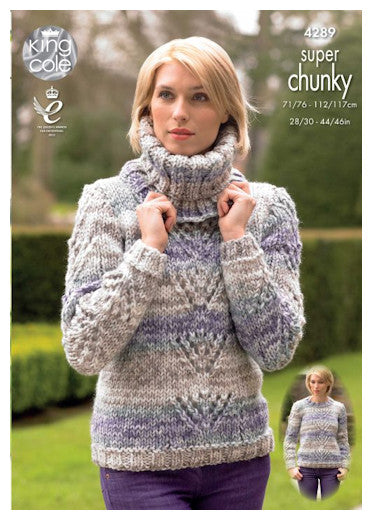 Big Value Super Chunky Tints Leaflet - Long Sleeved Sweater and Ribbed Cowl