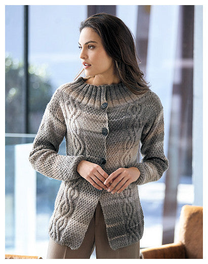 Katia Book No. 91 - Urban - Design 10 - Cardigan in Azteca Fine