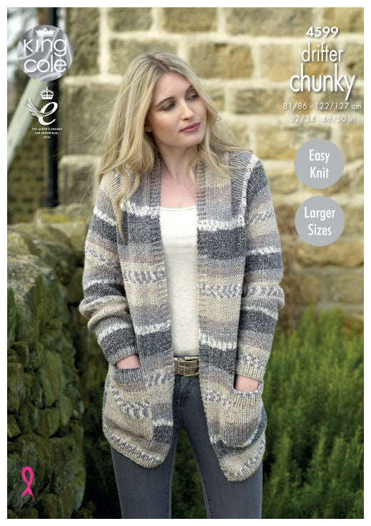 Drifter Chunky Leaflet 4599 - Long Cardigan with Pockets