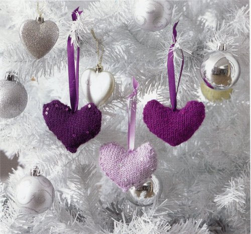 Christmas Knits 2 - Heart Ornaments