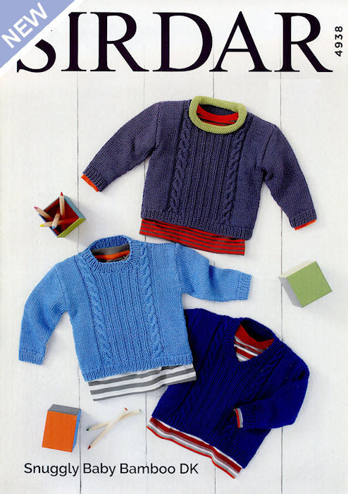 Snuggly Baby Bamboo Leaflet 4938 - Sweaters