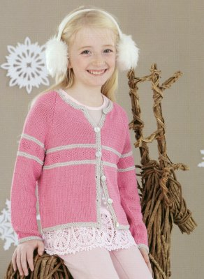 Sirdar Book 467 - A Winter's Tale - Design 4470 - Cardigan with Contrasting Borders