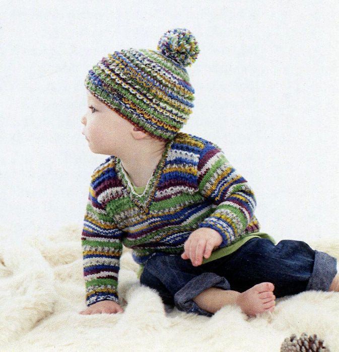 Sirdar Snuggly Baby Crofter DK Leaflet 5151 - Sweate and Hat