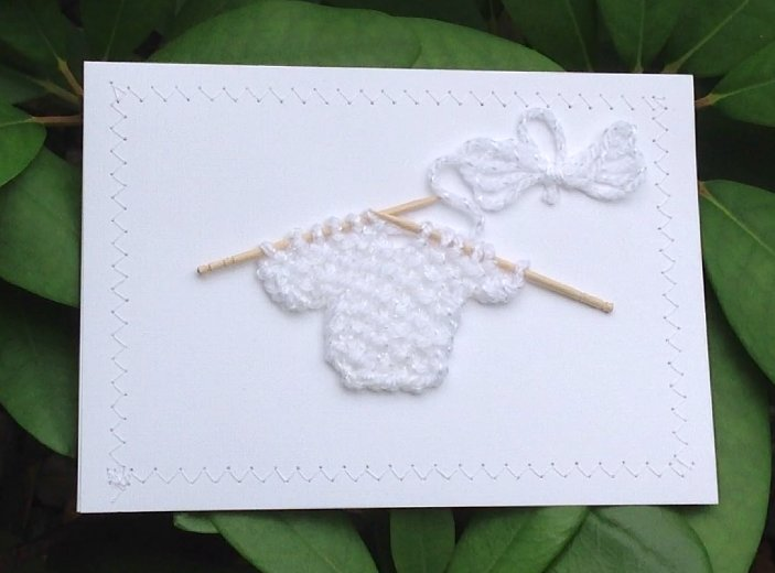 Blank Greeting Card - Baby White Sweater