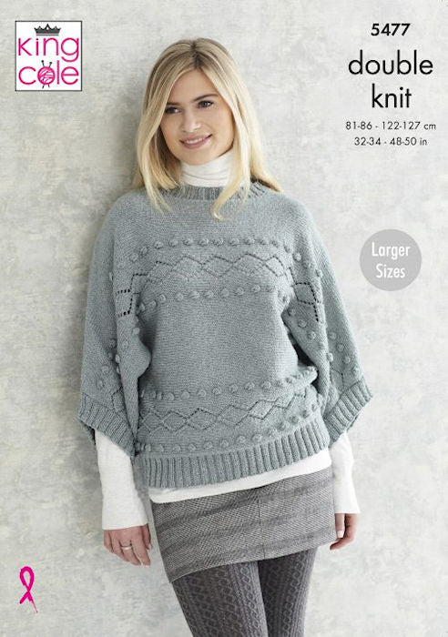 King Cole Subtle Drifter DK Leaflet 5477 - Boat Neck Sweater