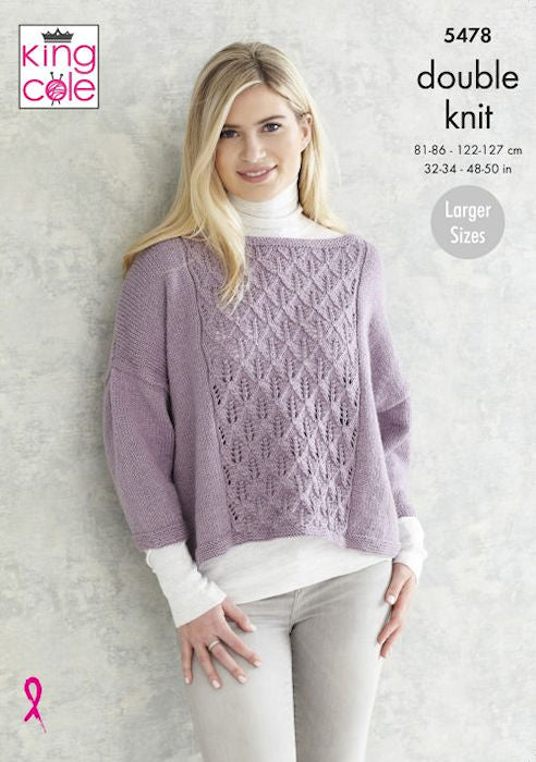 King Cole Subtle Drifter DK Leaflet 5478 - Short Sweater