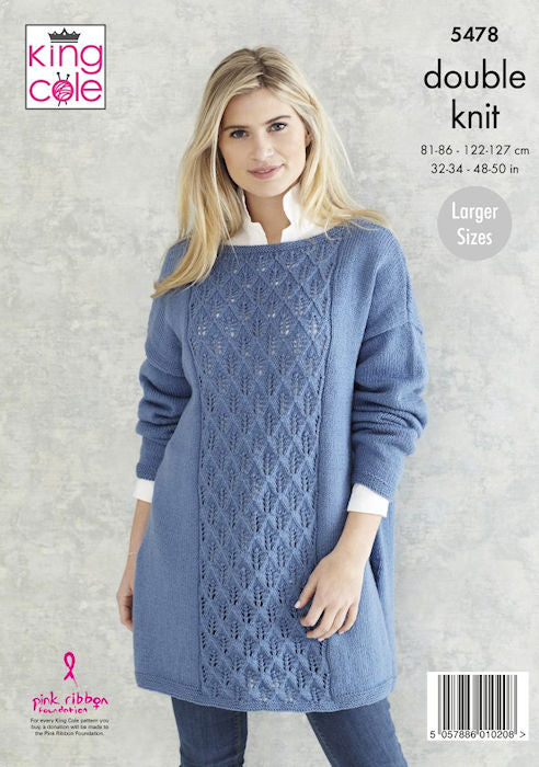 King Cole Subtle Drifter DK Leaflet 5478 - Long Sweater