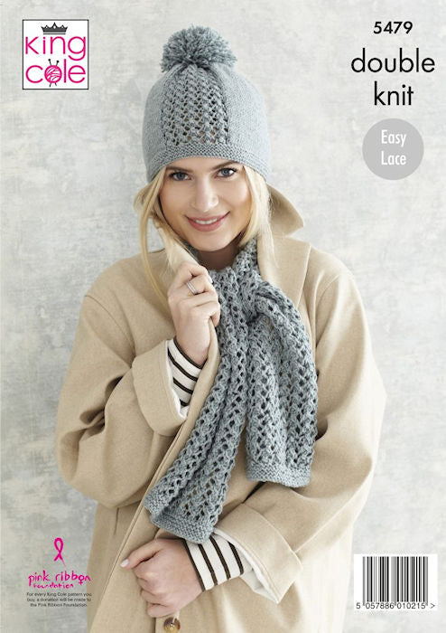 King Cole Subtle Drifter DK Leaflet 5479 - Hat and Scarf
