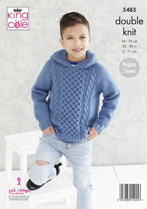 King Cole Subtle Drifter DK Leaflet 5483 - Hooded Sweater