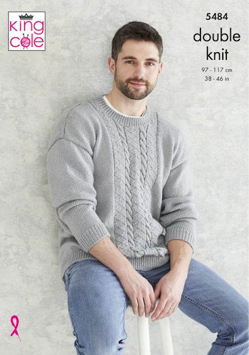 King Cole Subtle Drifter DK Leaflet 5484 - Patterned Panel