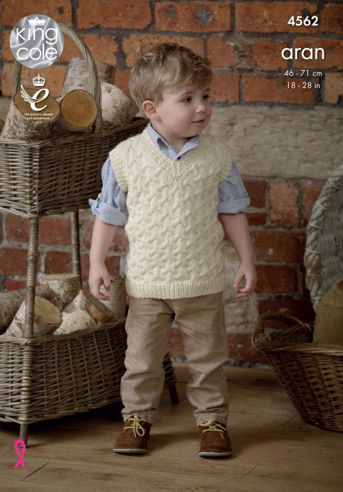 Fashion Aran Leaflet 4562 - Vest