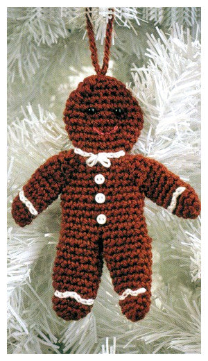 Christmas Crochet Book 1 - Gingerbread Man Decoration