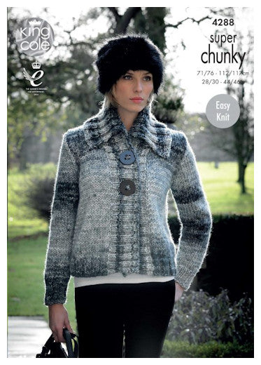 Big Value Super Chunky Tints Leaflet 4288 - Wide Collar Jacket