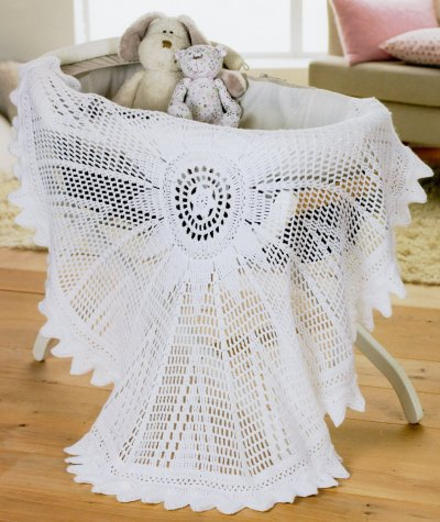 Sirdar Book 411 - The Baby Crochet Book - Design 1298 - Circular Shawl