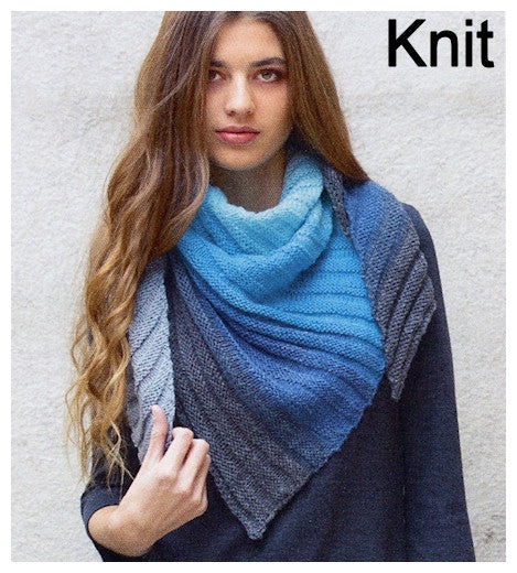 Paint Pattern Leaflet by Katia - Knit Shawl