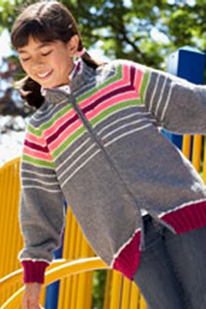 Patons Book 500882 - Cool for School - Super Stripes Jacket