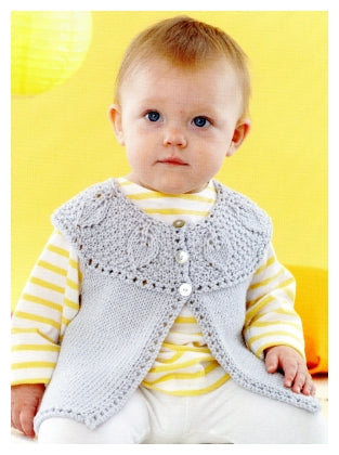 Sirdar Book 495 - Playful Little Tots - Design 4624 Sleeveless Cardigan