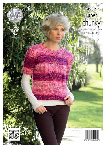 Big Value Super Chunky Tints Leaflet - Short Sleeved Sweater