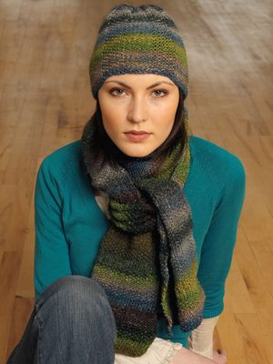 Silk Garden Cowslip Hat and Scarf Pattern by Jane Ellison